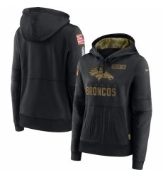 Women Denver Broncos Nike 2020 Salute to Service Performance Pullover Hoodie Black