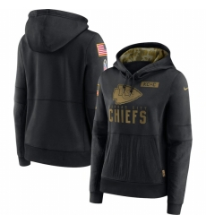 Women Kansas City Chiefs Nike 2020 Salute to Service Performance Pullover Hoodie Black