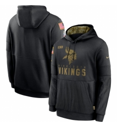 Men Minnesota Vikings Nike 2020 Salute to Service Sideline Performance Pullover Hoodie Black