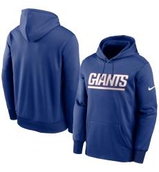 Men New York Giants Nike Fan Gear Wordmark Performance Pullover Hoodie Royal
