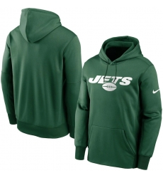 Men New York Jets Nike Fan Gear Wordmark Performance Pullover Hoodie Green