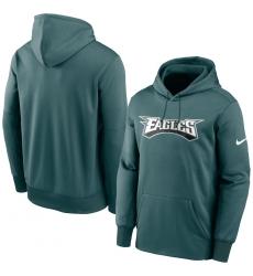 Men Philadelphia Eagles Nike Fan Gear Wordmark Performance Pullover Hoodie Midnight Green