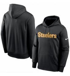Men Pittsburgh Steelers Nike Fan Gear Wordmark Performance Pullover Hoodie Black