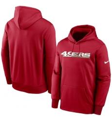 Men San Francisco 49ers Nike Fan Gear Wordmark Performance Pullover Hoodie Scarlet