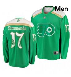Flyers 17 Wayne Simmonds Green 2019 St  Patrick Day Adidas Jersey