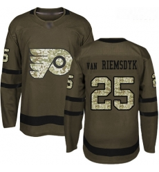 Flyers #25 James Van Riemsdyk Green Salute to Service Stitched Hockey Jersey
