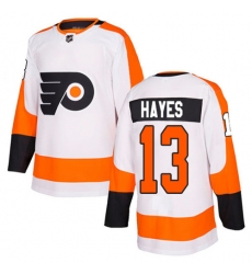 Men Kevin Hayes #13 Philadelphia Flyers Authentic Stitched Jersey White NHL Jersey
