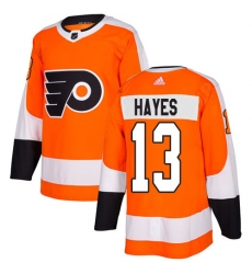 Men Philadelphia Flyers #13 Kevin Hayes Orange Home Authentic Stitched NHL Jersey