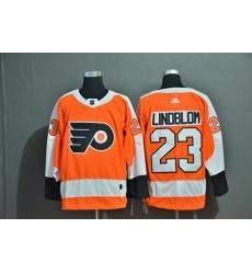 Men Philadelphia Flyers 23 Oskar Lindblom Orange Adidas Jersey