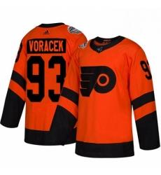 Womens Adidas Philadelphia Flyers 93 Jakub Voracek Orange Authentic 2019 Stadium Series Stitched NHL Jersey