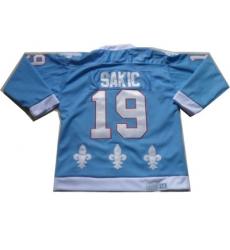 NHL Jerseys Quebec Nordiques #19 Sakic Lt.Blue Jerseys[CCM]