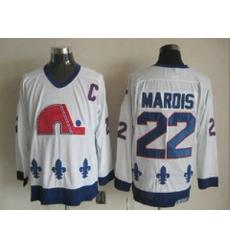 NHL Jerseys Quebec Nordiques #22 marois white[patch C]