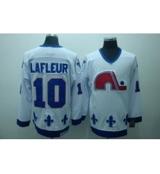 Quebec Nordiques 10 Lafleur White Jerseys CCM