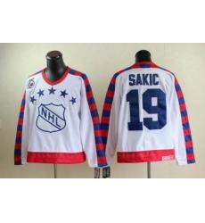 Quebec Nordiques #19 JOE SAKIC all star 75th Anniversary white CCM Jersey