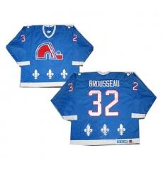 nhl quebec nordiques #32 brousseau blue[ccm]