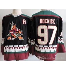 Men Adidas Arizona Coyotes 97 Jeremy Roenick Black Stitched NHL Jersey