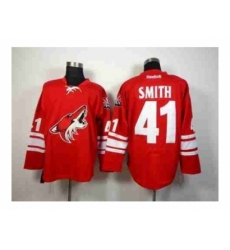 NHL Jerseys Phoenix Coyotes #41 Smith red