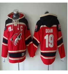 Phoenix Coyotes #19 Shane Doan Red Sawyer Hooded Sweatshirt Stitched NHL Jersey