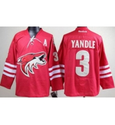 Phoenix Coyotes #3 Keith Yandle Red NHL Jersey