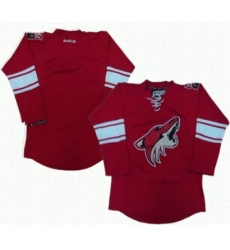 Phoenix Coyotes blank red jerseys