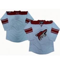 Phoenix Coyotes blank white jerseys