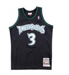 Men Minnesota Timberwolves 3 Stephon Marbury M&N Stitched NBA Jersey