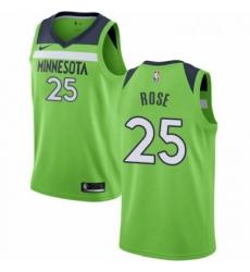 Mens Nike Minnesota Timberwolves 25 Derrick Rose Swingman Green NBA Jersey Statement Edition