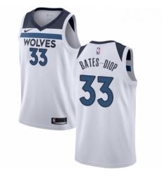 Mens Nike Minnesota Timberwolves 33 Keita Bates Diop Swingman White NBA Jersey Association Edition