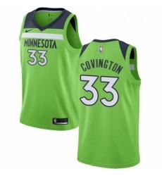 Mens Nike Minnesota Timberwolves 33 Robert Covington Swingman Green NBA Jersey Statement Edition
