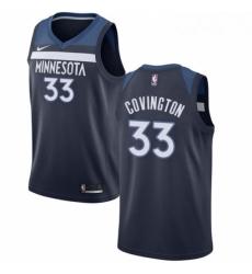 Mens Nike Minnesota Timberwolves 33 Robert Covington Swingman Navy Blue NBA Jersey Icon Edition