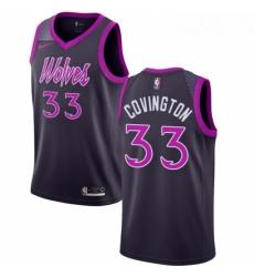 Mens Nike Minnesota Timberwolves 33 Robert Covington Swingman Purple NBA Jersey City Edition