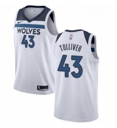Mens Nike Minnesota Timberwolves 43 Anthony Tolliver Swingman White NBA Jersey Association Edition