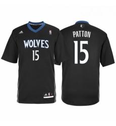 Minnesota Timberwolves 15 Justin Patton Alternate Black New Swingman Stitched NBA Jersey