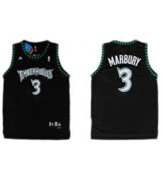 Minnesota Timberwolves #3 Stephon Marbury Black Swingman Jersey