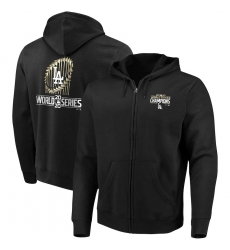 Men Los Angeles Dodgers 2020 World Series Champions Full Zip Hoodie Black