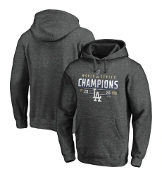 Men Los Angeles Dodgers 2020 World Series Champions Locker Room Pullover Hoodie Charcoal