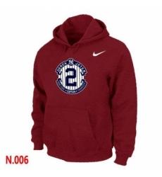 MLB Men Nike New York Yankees 2 Derek Jeter Pullover Hoodie Red