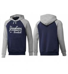 MLB Men Nike New York Yankees Pullover Hoodie NavyGrey