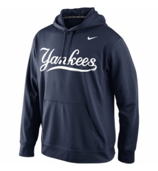 MLB New York Yankees Nike Men KO Wordmark Perfomance Hoodie Navy