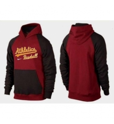 MLB Men Nike Oakland Athletics Pullover Hoodie RedBrown