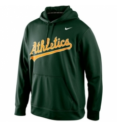MLB Oakland Athletics Nike Men KO Wordmark Perfomance Hoodie Green