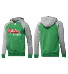 MLB Men Nike Philadelphia Phillies Pullover Hoodie GreenGrey
