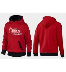MLB Men Nike Philadelphia Phillies Pullover Hoodie RedBlack