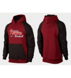 MLB Men Nike Philadelphia Phillies Pullover Hoodie RedBrown