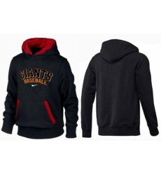 MLB Men Nike San Francisco Giants Pullover Hoodie BlackRed