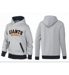 MLB Men Nike San Francisco Giants Pullover Hoodie GreyBlack