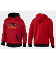 MLB Men Nike San Francisco Giants Pullover Hoodie RedBlack
