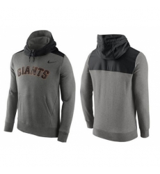 MLB Men San Francisco Giants Nike Gray Hybrid Hoodie