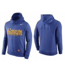 MLB Men Seattle Mariners Nike Blue Hybrid Hoodie