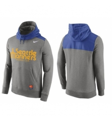 MLB Men Seattle Mariners Nike Gray Hybrid Hoodie